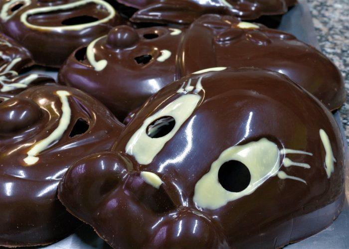 Masque mardi gras en chocolat