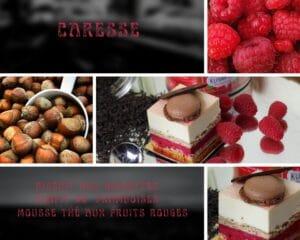 gateau framboise et thé fruits rouges